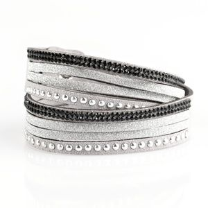 Once Upon A SHOWTIME - Silver Double Wrap Bracelet